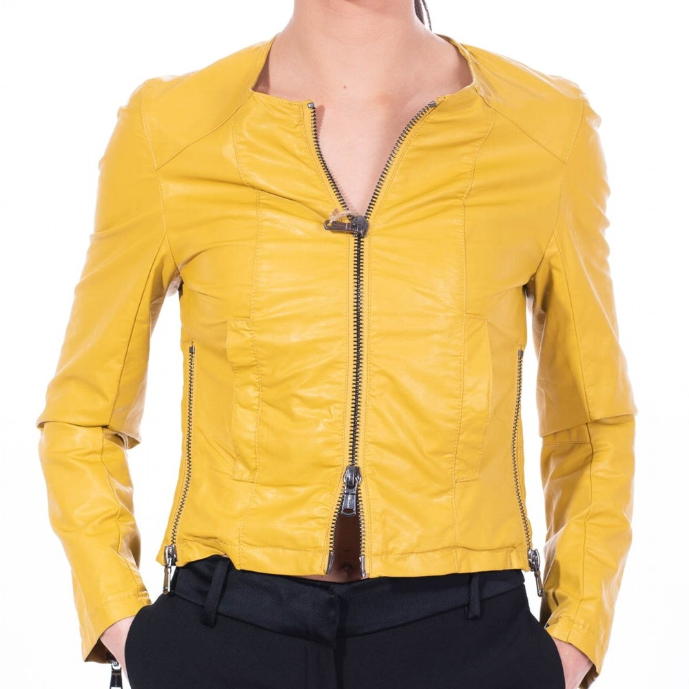 new style 408b3 4b5d3 Giacchetto Ecopelle FREEDOMDAY donna - ANNE - Giallo (Art. ERFW7053R201)