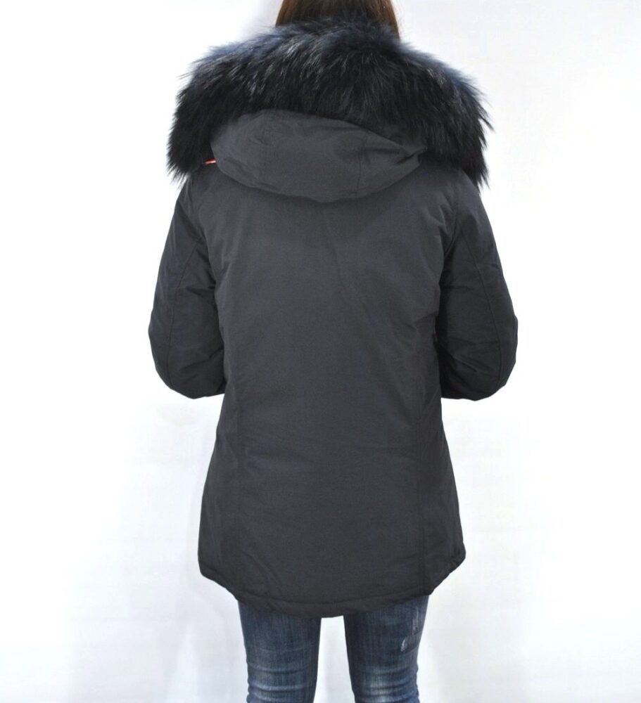 Parka FREEDOMDAY donna mod. NEW CHAMOIS COLOR FUR – Blu